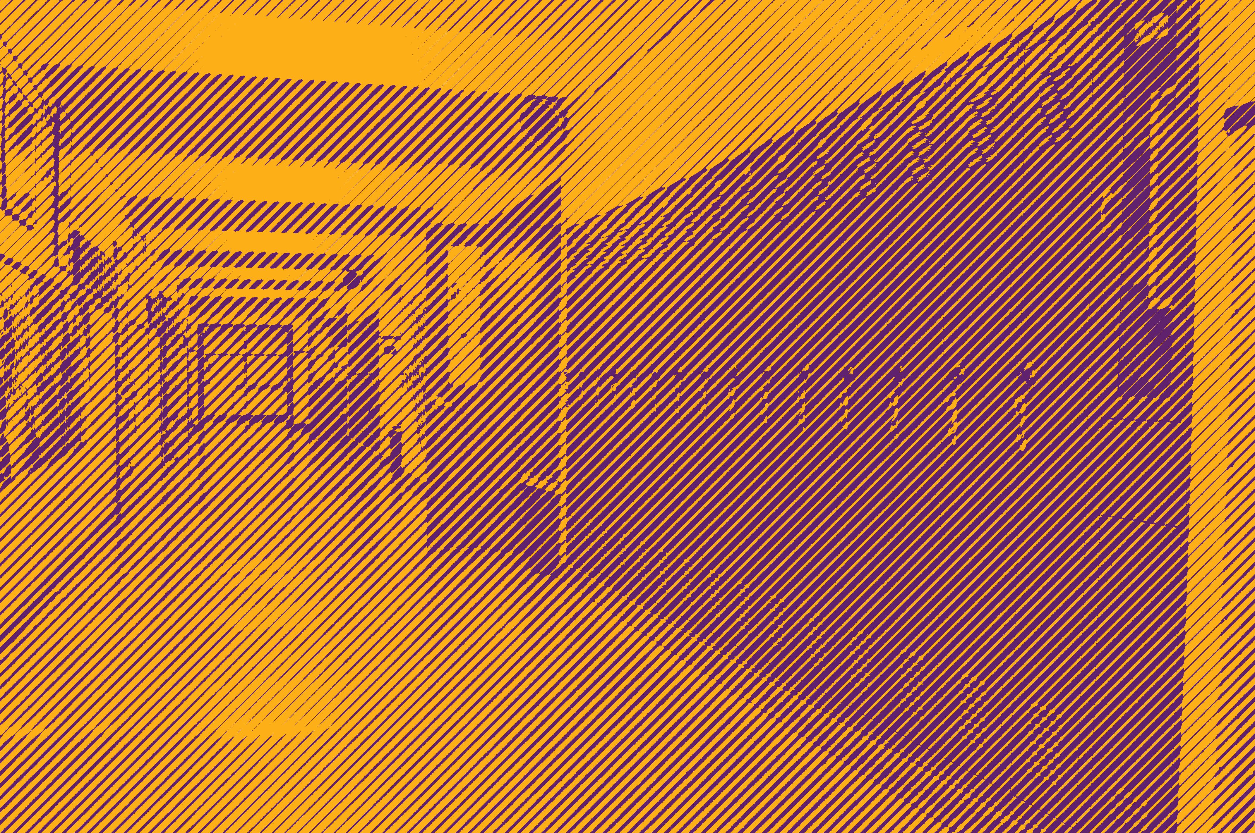 Photo of an empy school hallway