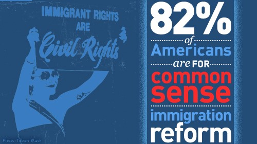 82% of Americans are for Common Sense Immigration Reform