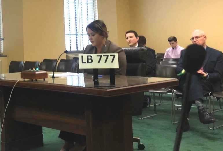 Law Clerk Erin Olsen testifies in front of the Judiciary Committee