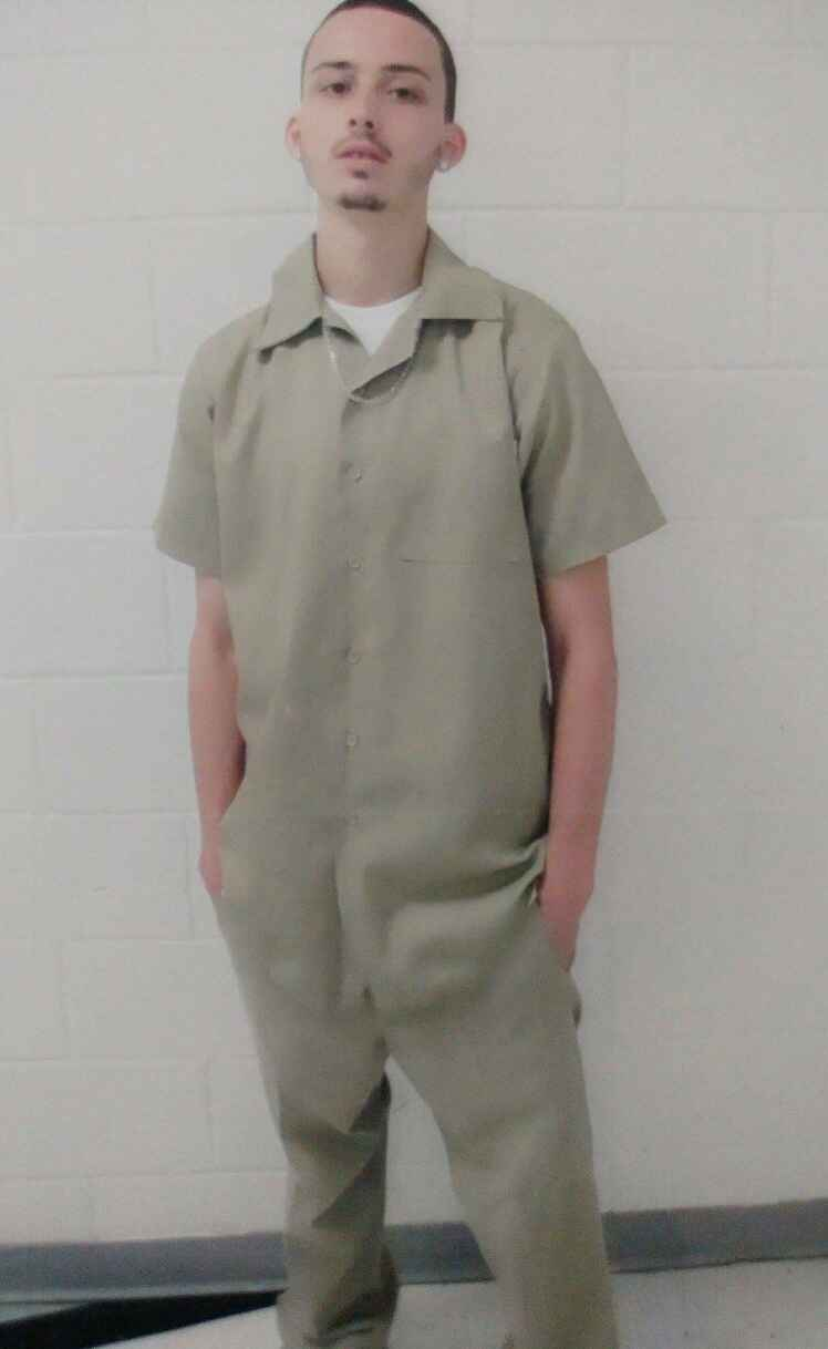 Photo of Dylan taken while in a correctional facility