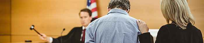 Image of defendant in court