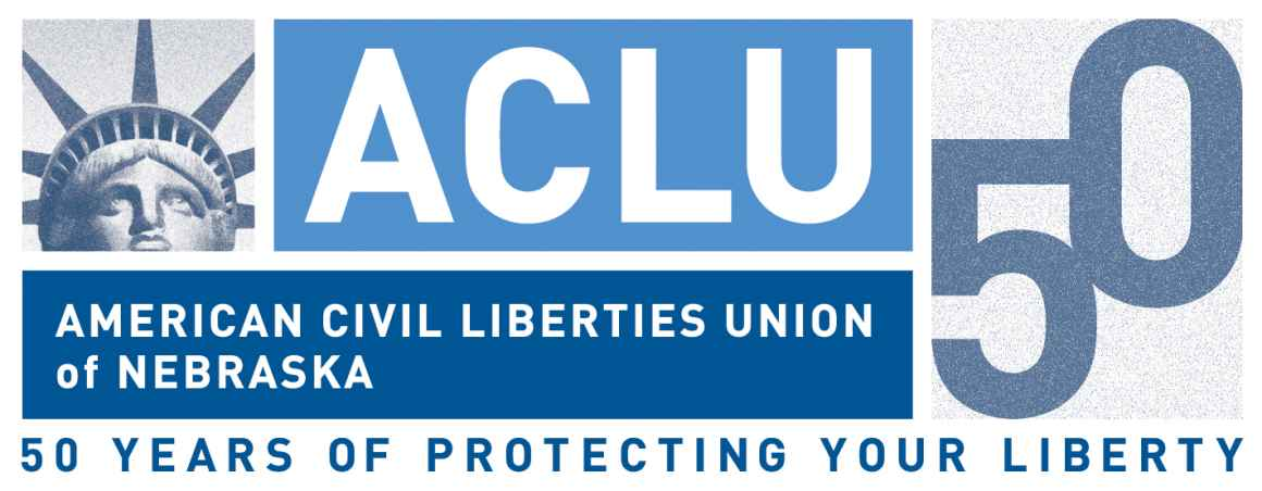 ACLU of Nebraska 50th Anniversary Logo