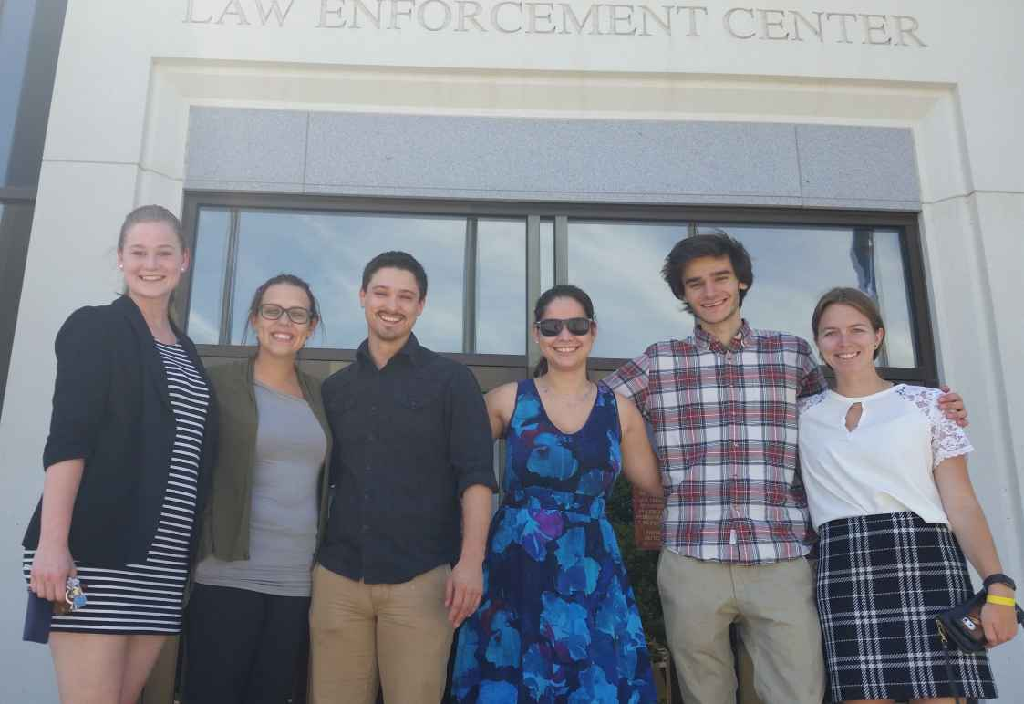 A photo of six ACLU of Nebraska interns and law clerks.