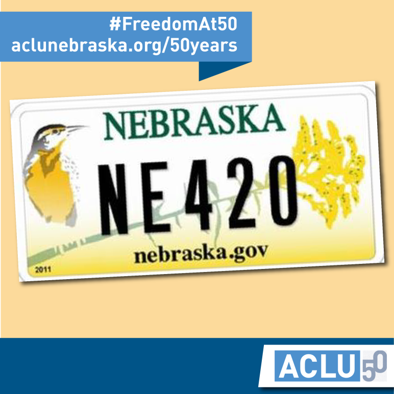 "Photo of license plate saying ""NE 420"""