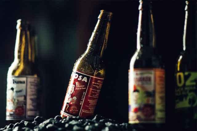 Photo of beer bottles