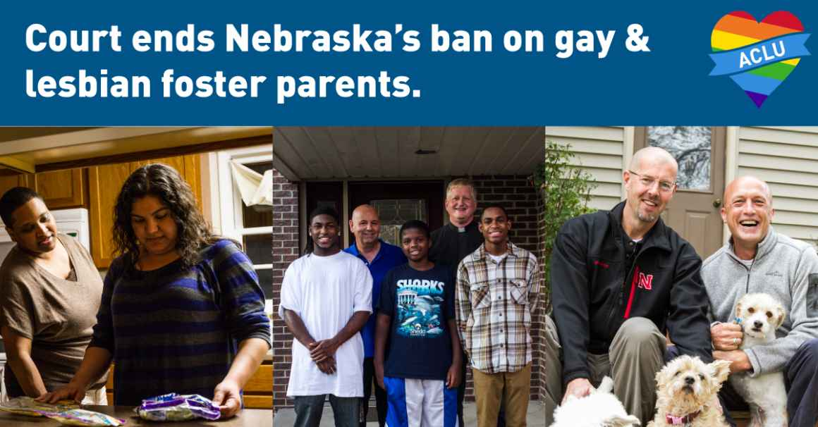 Same-sex couples who won the right to be foster parents.