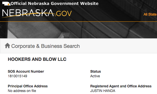Secretary of State's webpage