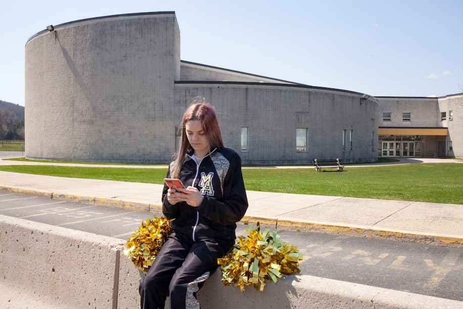 Brandi Levy, a former cheerleader at Mahanoy Area High School in Mahanoy City, Pa., in an undated photo provided by the American Civil Liberties Union. (Danna Singer/ACLU/via Reuters)
