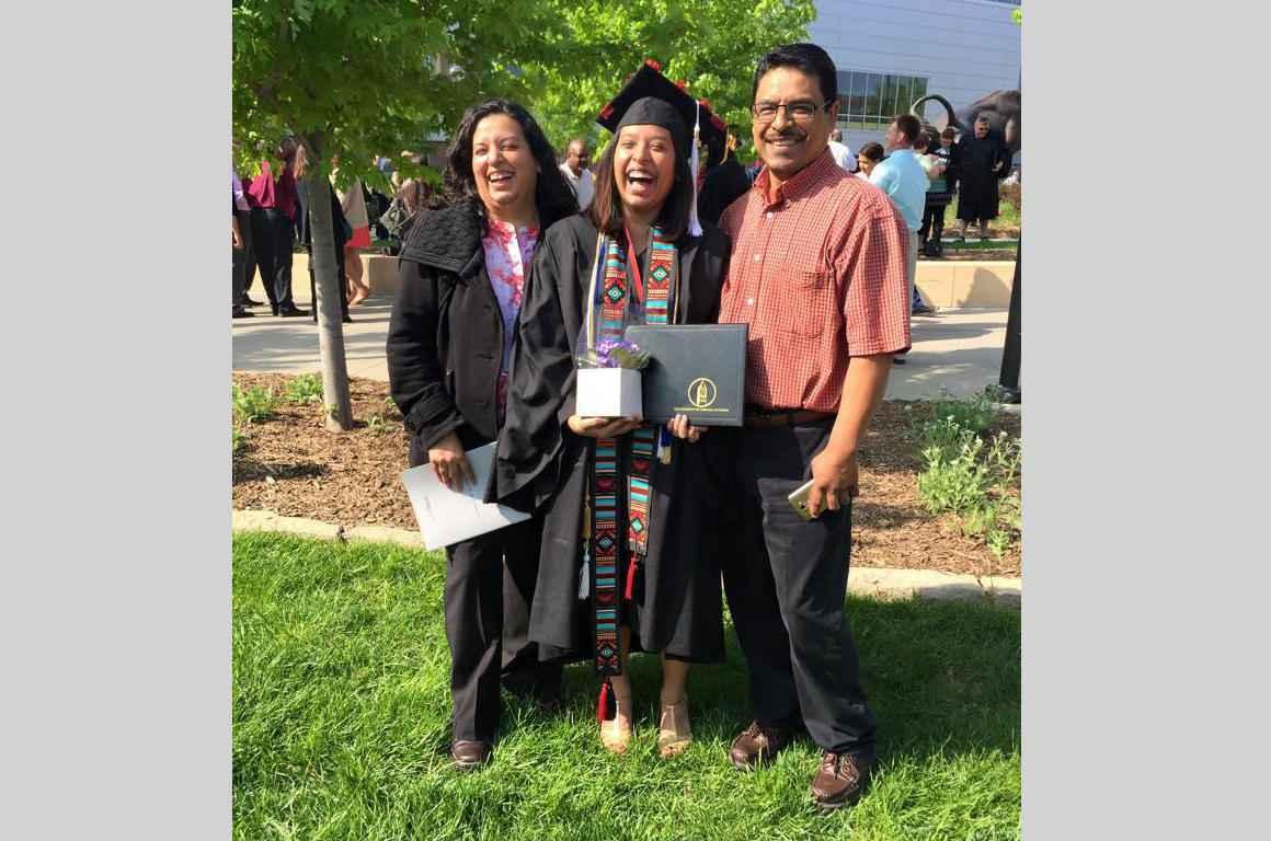 Maria Marquez Hernandez at her graduation
