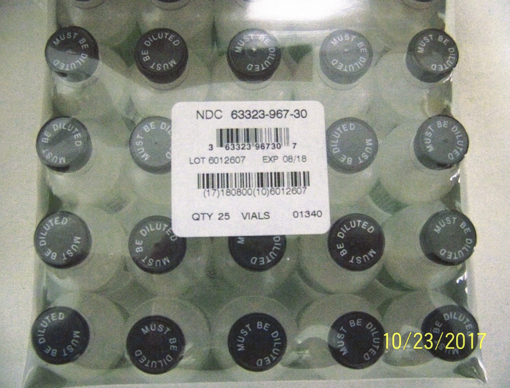 A photograph of vials contained in requested death penalty drug records.