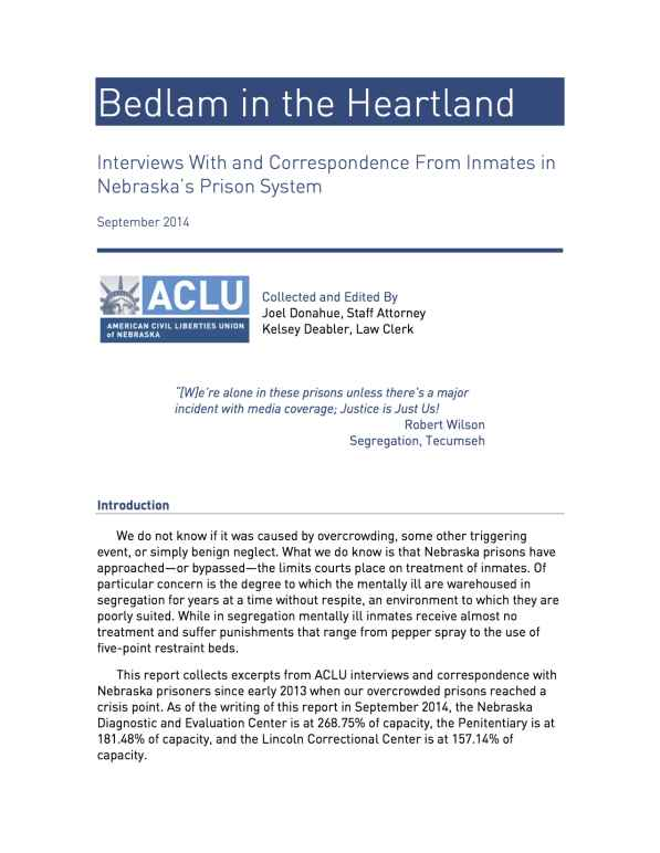 Bedlam in the Heartland report cover