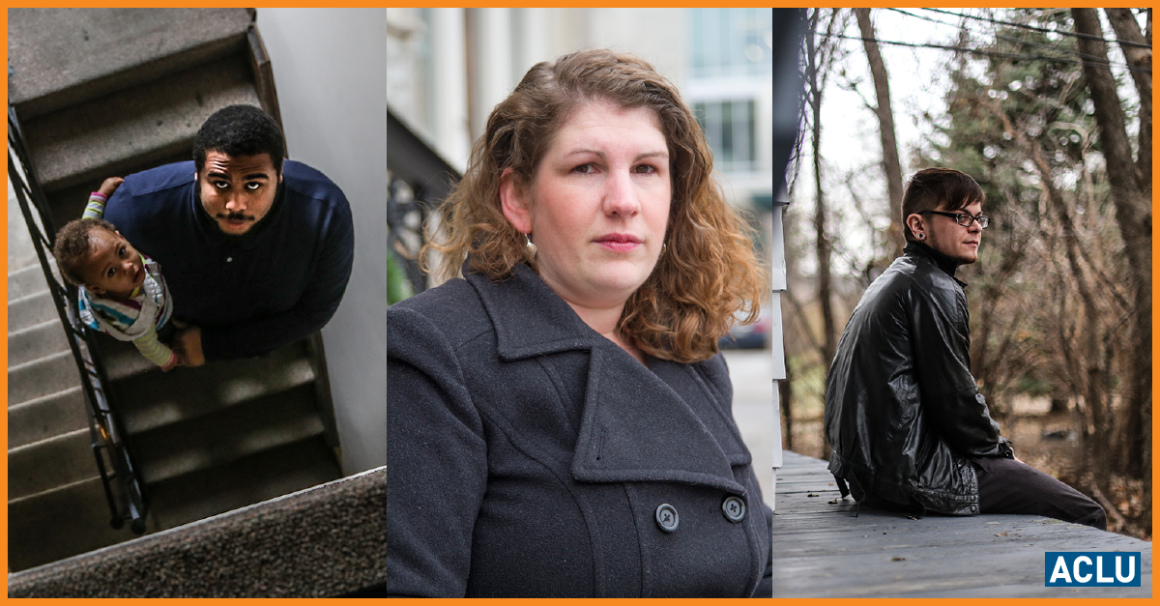Photos of Jacob, Lisa and Dylan who spent time in solitary confinement as teens.
