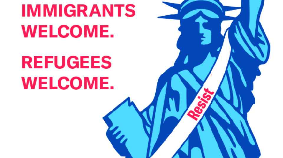 Immigrants Welcome flyer